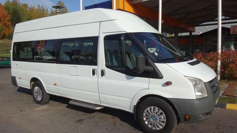 Ford Transit 2007m. 19 vietų mikroautobuso nuoma Vilniuje