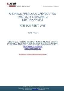 Mikroautobusu nuomaISO 9001:2015 standartas