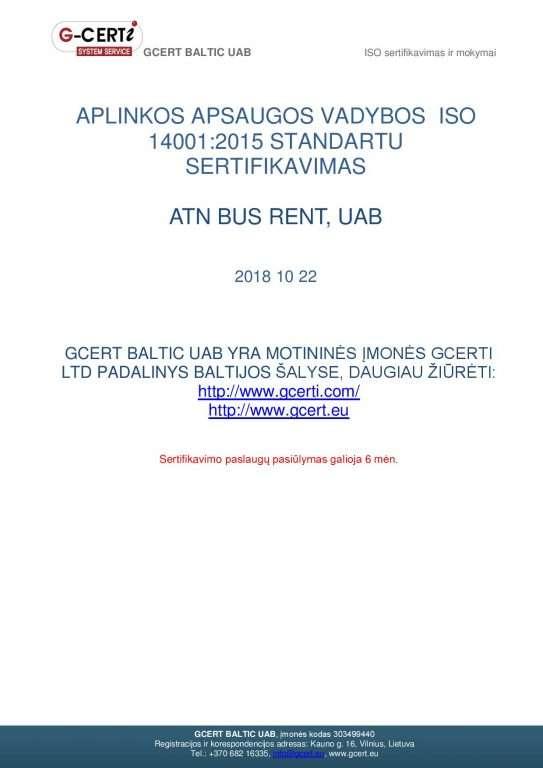 Mikroautobusų nuoma - ISO standartartas